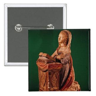 Vierge de l'annonce badge carré 5 cm