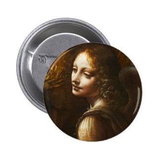 Vierge de Leonardo da Vinci de l'ange de roches Pin's Avec Agrafe