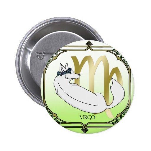 Vierge de loup badges avec agrafe