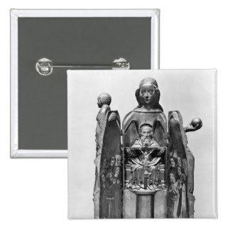 Vierge, début du 15ème siècle badge carré 5 cm