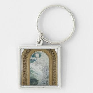 Vierge des lis, 1899 porte-clé carré argenté