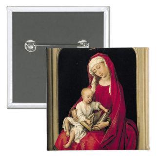 Vierge et enfant, 1464 badge carré 5 cm