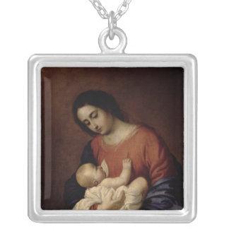 Vierge et enfant, 1658 pendentif carré