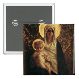 Vierge et enfant, 1872 badge carré 5 cm
