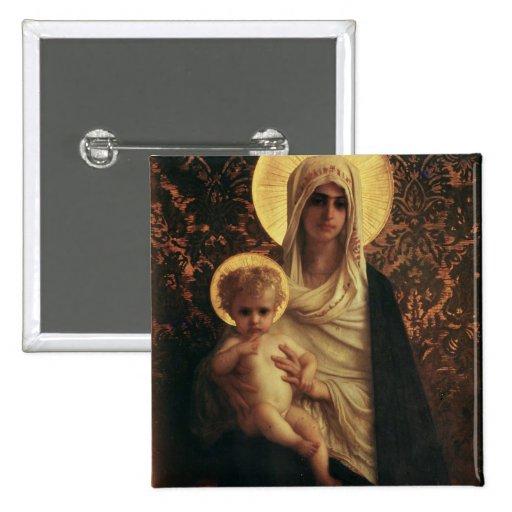 Vierge et enfant, 1872 badge avec épingle