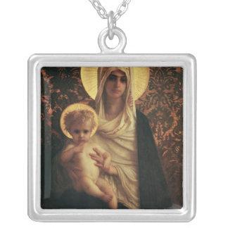 Vierge et enfant, 1872 pendentif carré