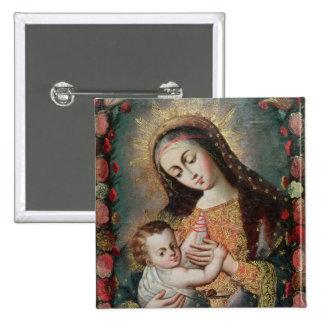 Vierge et enfant 2 badge
