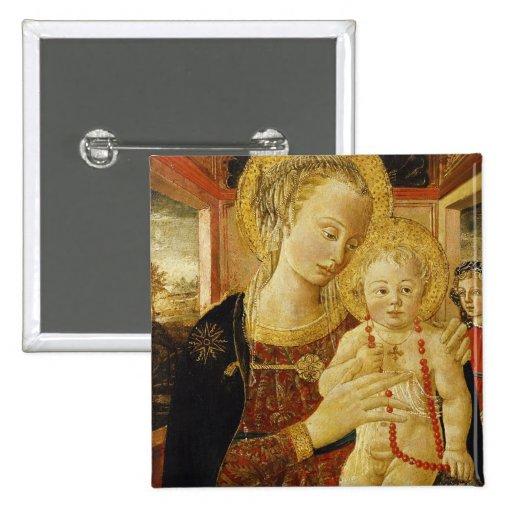 Vierge et enfant 2 pin's