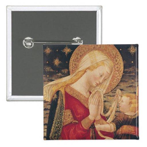 Vierge et enfant 2 badge avec épingle