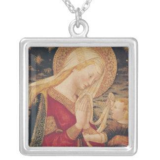 Vierge et enfant 2 pendentif carré