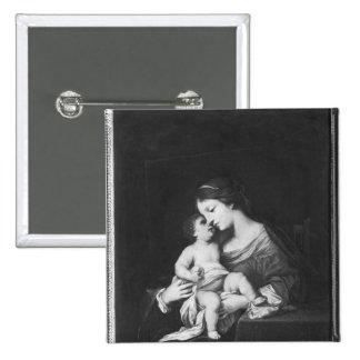 Vierge et enfant 3 badge carré 5 cm