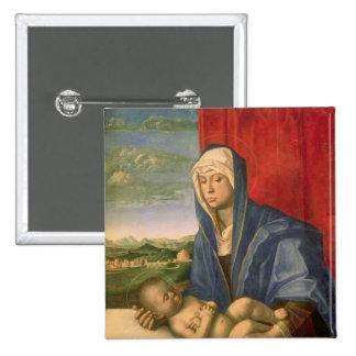 Vierge et enfant 3 badges