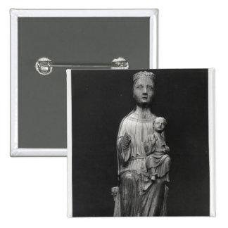 Vierge et enfant 4 badge carré 5 cm