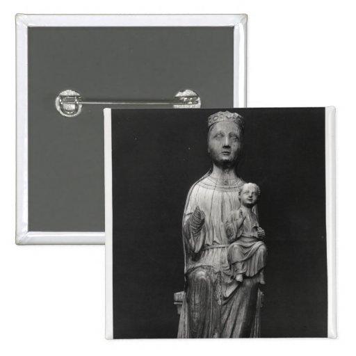 Vierge et enfant 4 badges avec agrafe