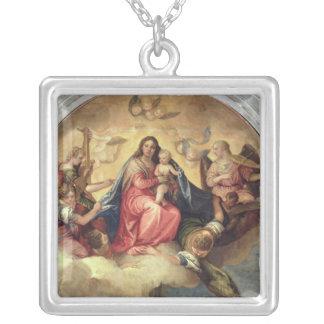 Vierge et enfant avec des musiciens d'ange bijouterie fantaisie