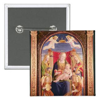 Vierge et enfant avec des musiciens et des saints  badge