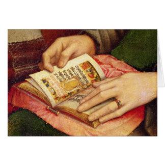 Vierge et enfant avec des saints cartes