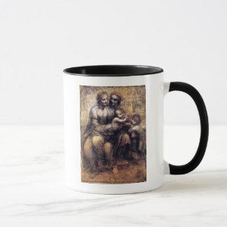 Vierge et enfant avec le croquis de St Anne Mugs