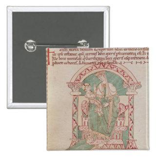 Vierge et enfant avec St Gregory le grand Badge Avec Épingle