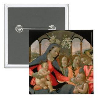 Vierge et enfant avec St John le baptiste Pin's