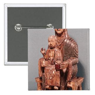 Vierge et enfant badge carré 5 cm