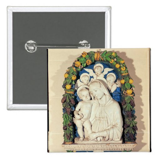 Vierge et enfant badge avec épingle