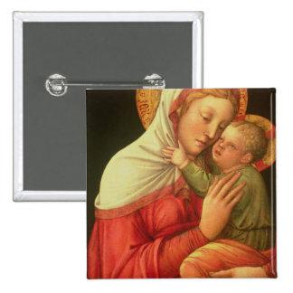 Vierge et enfant, c.1465 (huile sur le panneau) pin's avec agrafe