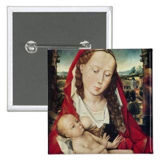 Vierge et enfant, c.1467-70 badge carré 5 cm