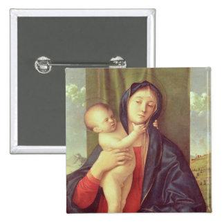 Vierge et enfant, c.1487 badge carré 5 cm