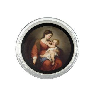 Vierge et enfant du Christ Bague