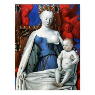 Vierge et enfant entourés par des anges - Fouquet Carte Postale