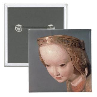 Vierge et enfant, petit groupe de la tête du badge