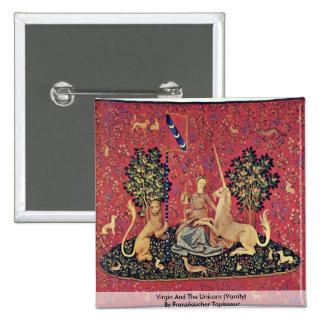 Vierge et la licorne (vanité) badge