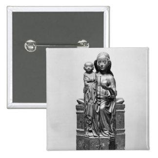Vierge fermée, début du 15ème siècle badge carré 5 cm