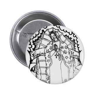 Vierge Marie Badge Rond 5 Cm