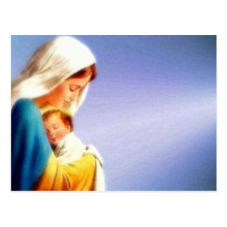 Vierge Marie béni et enfant Jésus de nourrisson Carte Postale
