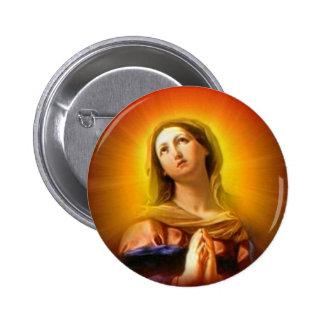 Vierge Marie béni - mère de Dieu Badges Avec Agrafe