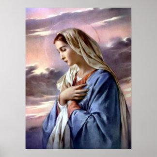 Vierge Marie béni - mère de Dieu Posters