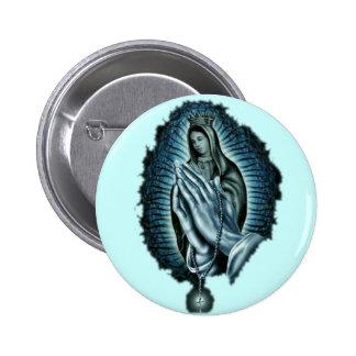 Vierge Marie béni par prière pourpre Pin's