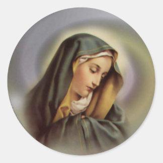 Vierge Marie béni Sticker Rond