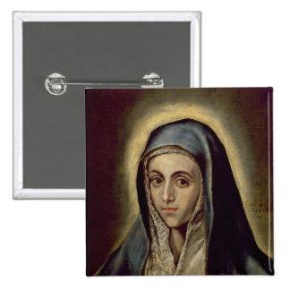 Vierge Marie, c.1594-1604 Badge Carré 5 Cm