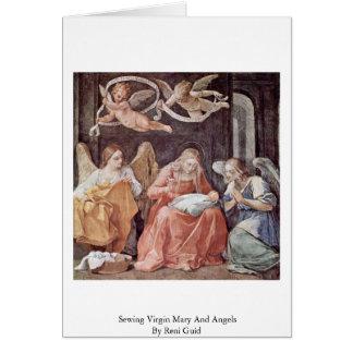 Vierge Marie de couture et anges par Reni Guido Cartes