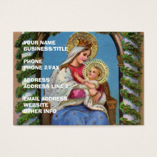 Vierge Marie et bébé Jésus Cartes De Visite
