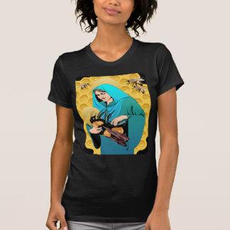 Vierge Marie Madonna et gaffent l'abeille T-shirt