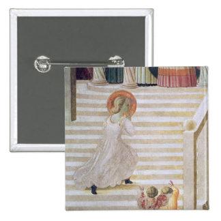 Vierge Marie montant l'escalier Pin's