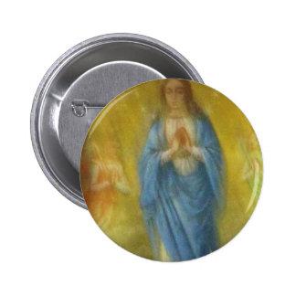 Vierge Marie -   période médiévale Badge Rond 5 Cm