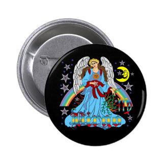 Vierge V-1 de zodiaque Badge Rond 5 Cm
