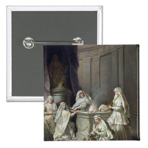 Vierges de Vestal, 1727 Badge Avec Épingle