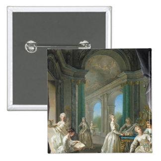 Vierges modernes, 1728 badge carré 5 cm