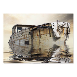 Vieux bateau frais modèle de carte de visite